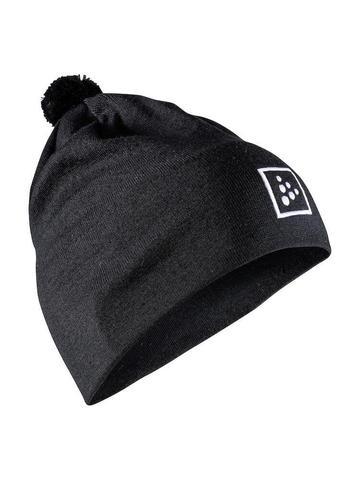 Craft Practice шапка с помпоном черная