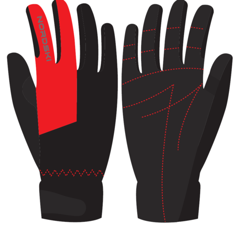 Nordski Jr Racing WS перчатки гоночные детские черные-красные