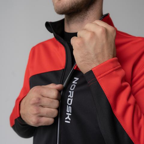 Nordski Active лыжная куртка мужская красная-черная