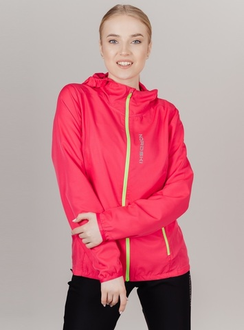 Nordski Run куртка для бега женская Pink-Yellow