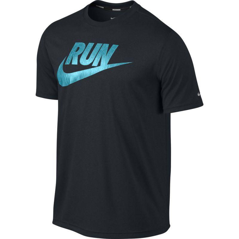 Футболка Nike Legend Run Swoosh Tee чёрная