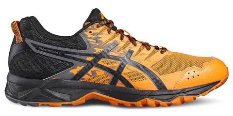 Кроссовки внедорожники мужские Asics Gel Sonoma 3 черные-оранжевые