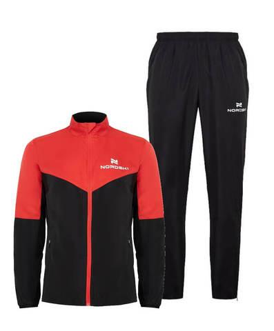 Nordski Sport Motion костюм для бега мужской red-black
