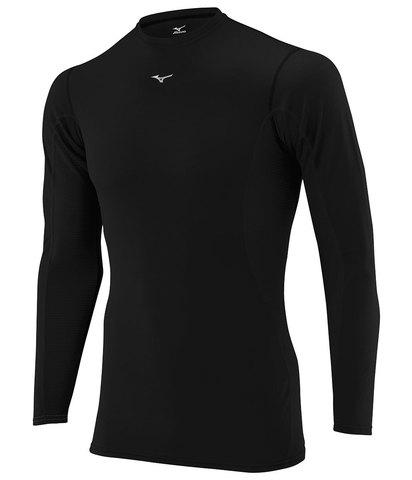 Термобелье рубашка мужская Mizuno Middleweight Crew черная