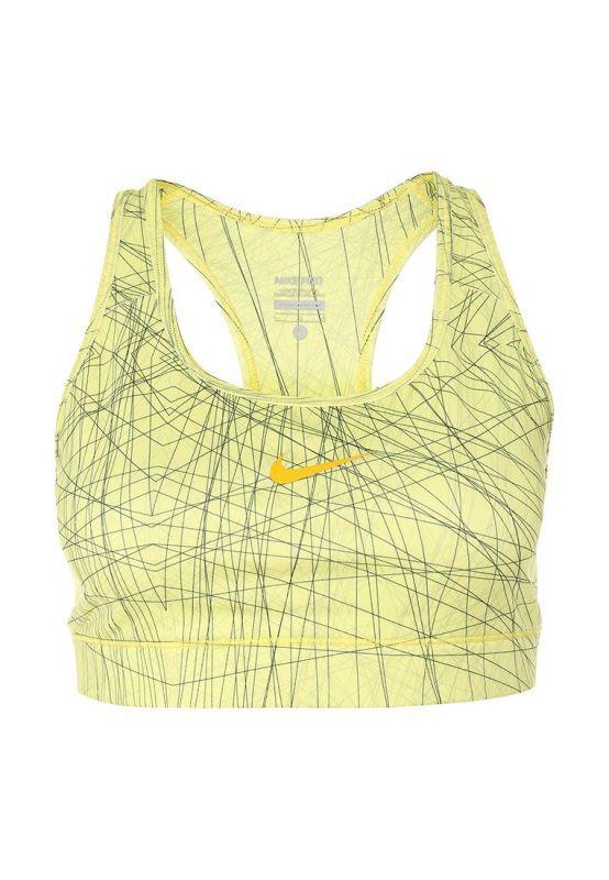 Топ л/а Nike Pro Bra Printed (W) жёлтый - 3