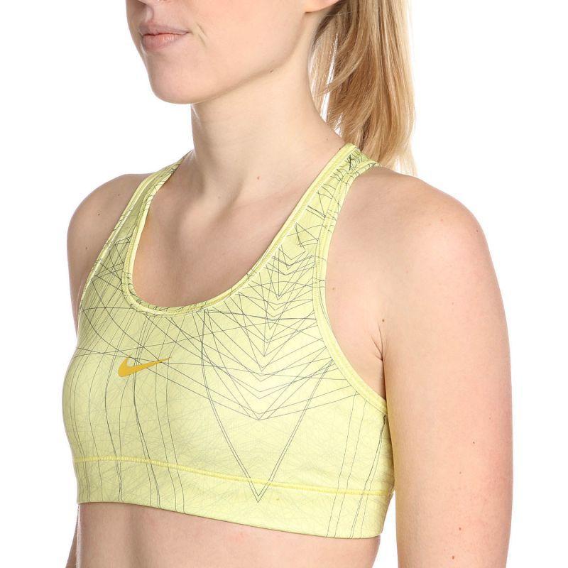 Топ л/а Nike Pro Bra Printed (W) жёлтый - 4