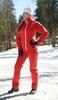Nordski Россия женский прогулочный костюм Red - 1