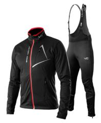 Victory Code Dynamic Warm разминочный лыжный костюм со спинкой black