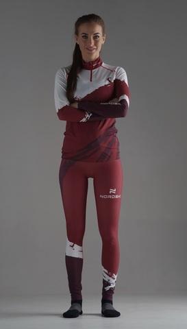 Nordski Premium лыжный гоночный комбинезон женский бордо-white