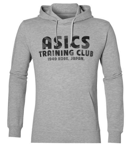 Спортивная толстовка мужская Asics Training Club Hoody серая