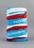 Nordski Stripe многофункциональный баф blue-red - 1