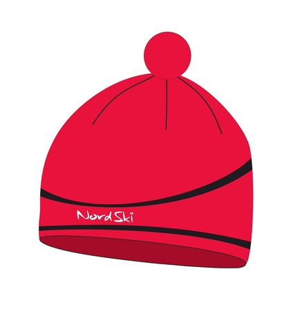 Nordski Line лыжная шапка красная