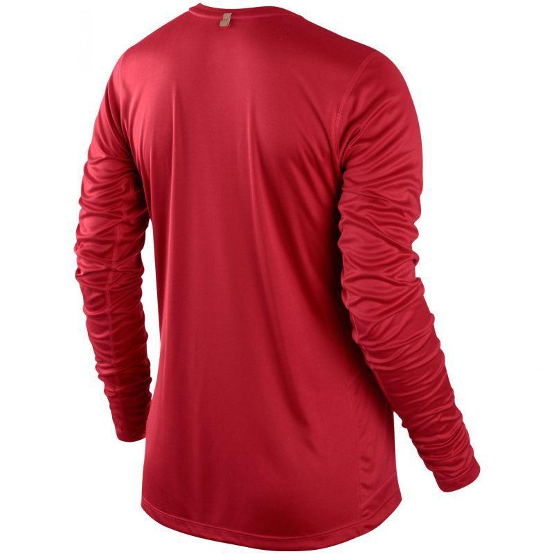 Футболка Nike Miler LS UV Top (W) /Рубашка беговая красная - 2