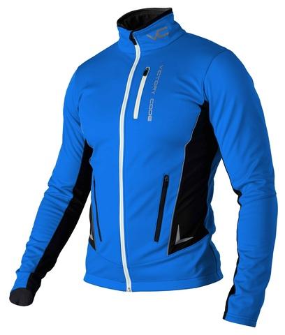 Victory Code Jr Speed Up разминочная лыжная куртка детская blue