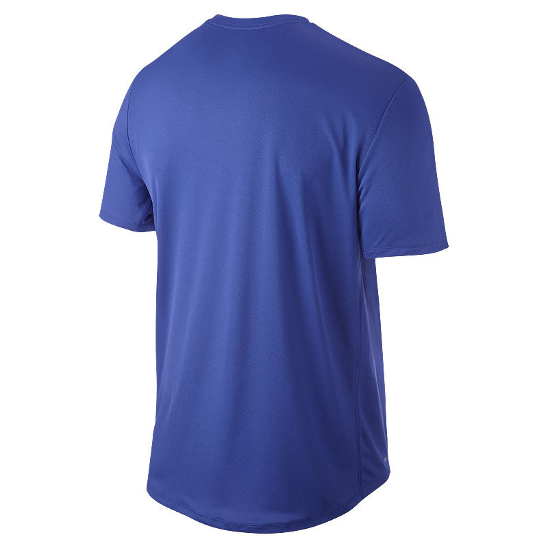 Футболка Nike Legend Run Swoosh Tee голубая - 2
