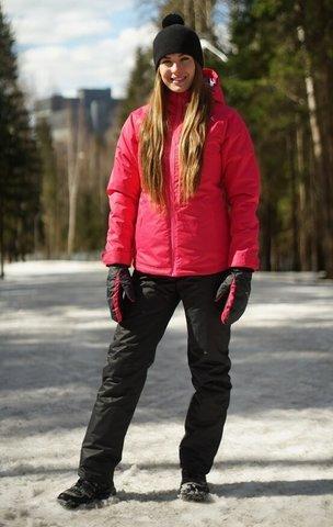 Nordski Motion женский утепленный лыжный костюм raspberry-black