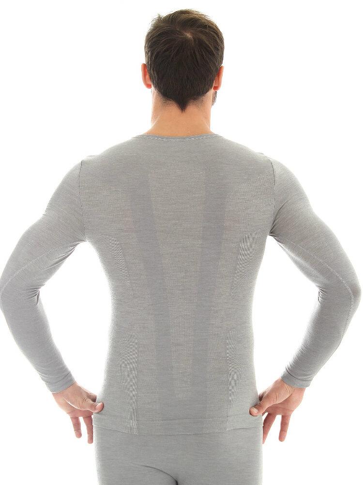 Термобелье мужское Brubeck Comfort Wool рубашка серая - 2