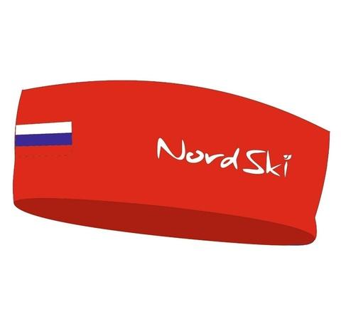Nordski Active RUS повязка красная