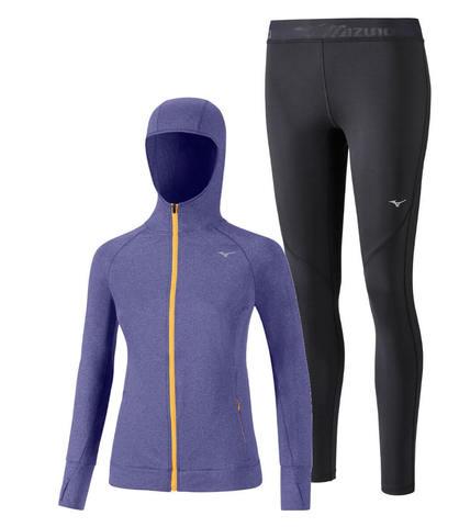 Mizuno Active Impulse костюм для бега женский blue-black