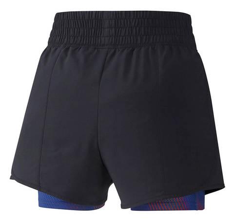 Mizuno 4.5 2 In 1 Short шорты для бега женские черные