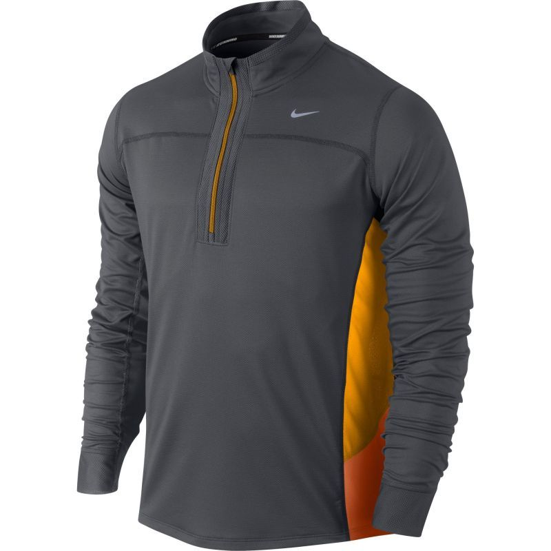 Футболка Nike Technical LS HZ /Рубашка беговая чёрная
