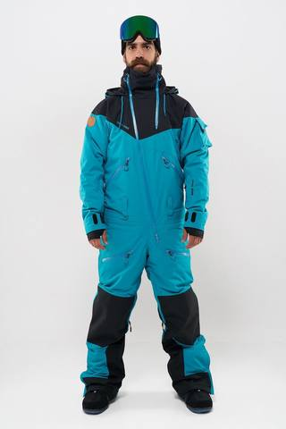 Cool Zone KITE мужской комбинезон для сноуборда черный-волна