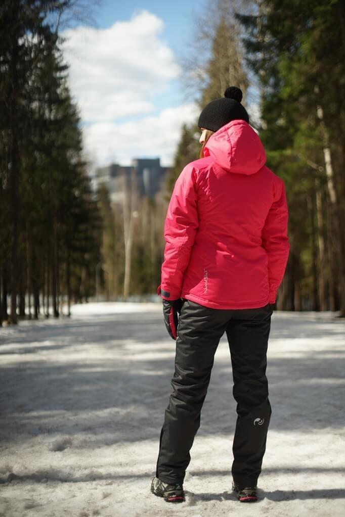 Nordski Motion женский утепленный лыжный костюм raspberry-black - 2