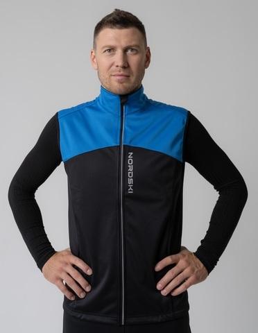 Nordski Active лыжный жилет мужской black-blue