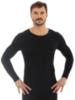 Термобелье мужское Brubeck Comfort Wool рубашка черная - 1