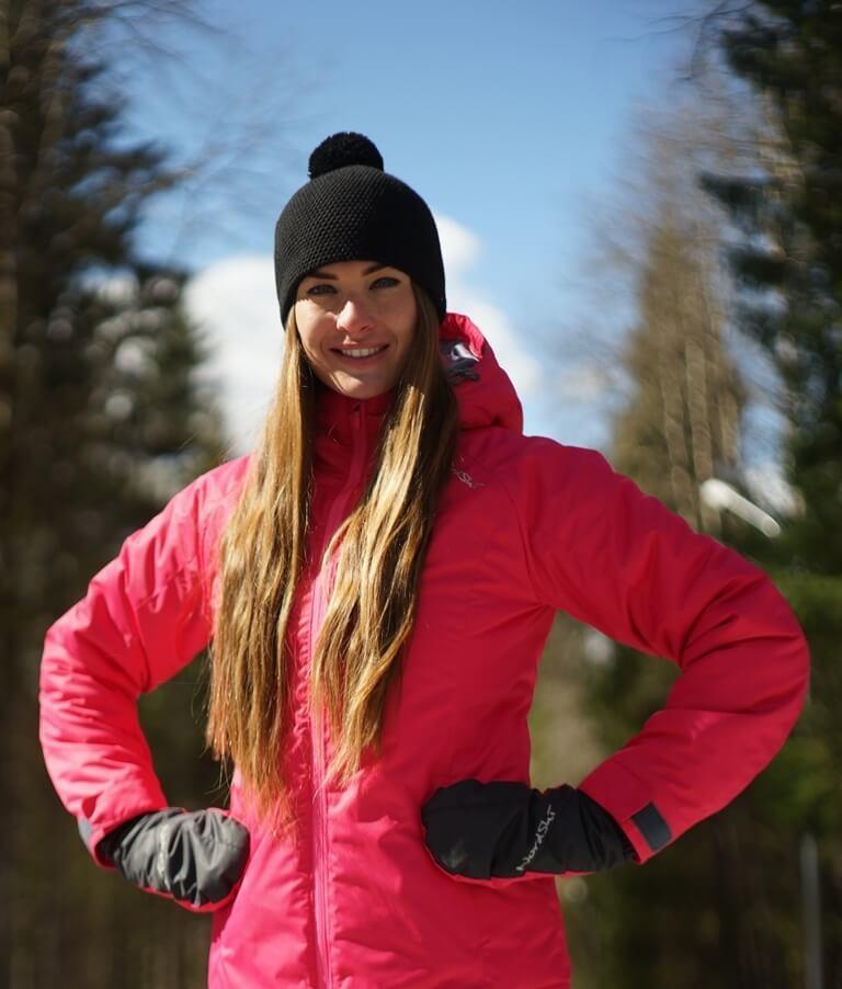 Nordski Motion женский утепленный лыжный костюм raspberry-black - 3