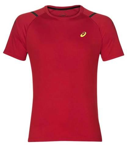 Asics Icon Ss Top футболка для бега мужская красная