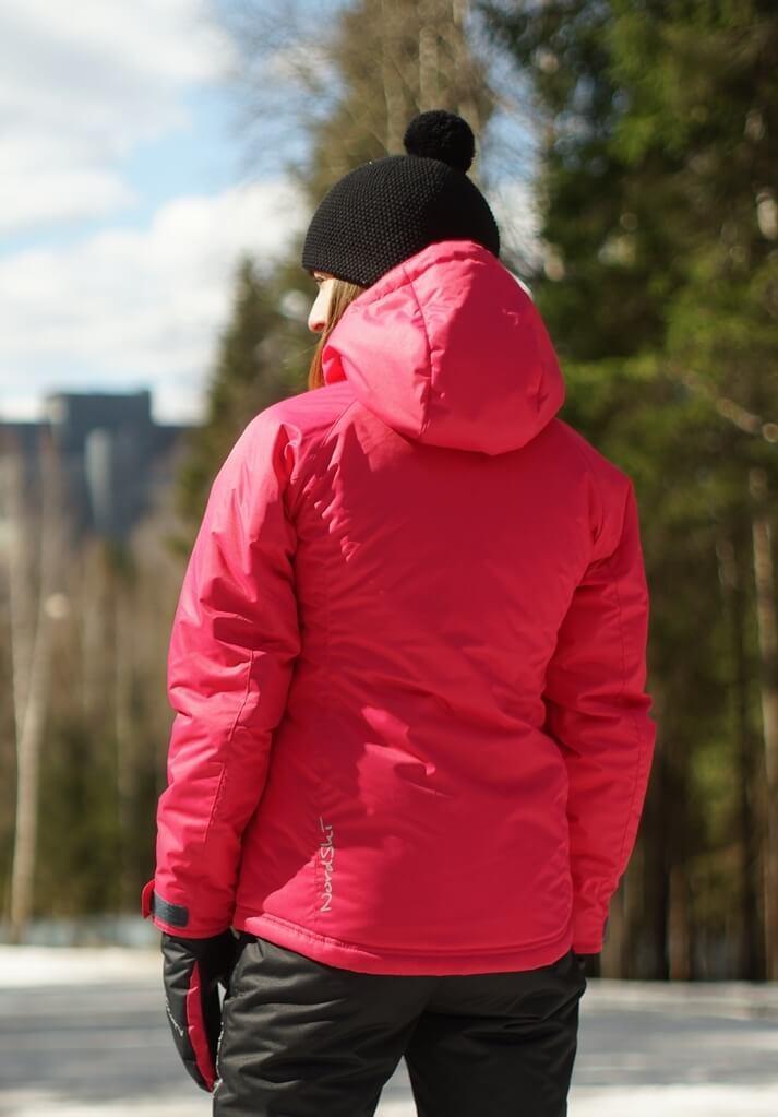 Nordski Motion женский утепленный лыжный костюм raspberry-black - 4