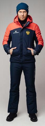 Nordski Mount теплый лыжный костюм мужской blue-red
