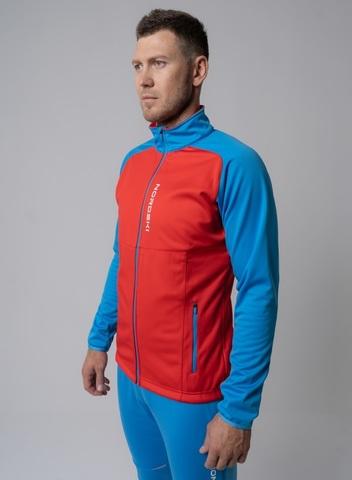 Nordski Premium лыжная куртка мужская red-blue