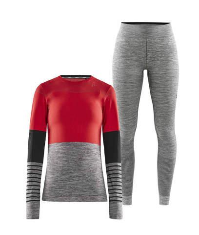 Craft Fuseknit Comfort Blocked комплект термобелья женский red-grey