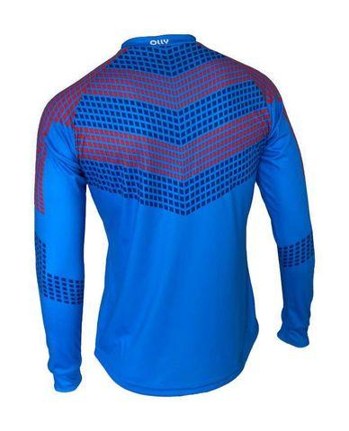 Olly Russia Long футболка с длинным рукавом синяя-красная
