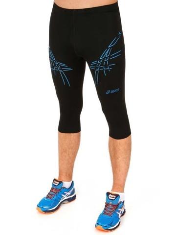 Asics Tiger Knee Tight 3/4 Мужские тайтсы с голубыми полосами