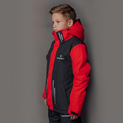 Nordski Jr Extreme горнолыжный костюм детский black-red