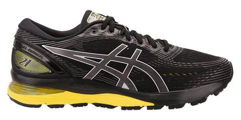 Asics Gel Nimbus 21 кроссовки для бега мужские черные-желтые