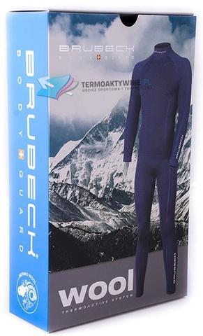 Термобелье Brubeck Wool Merino рубашка мужская черная
