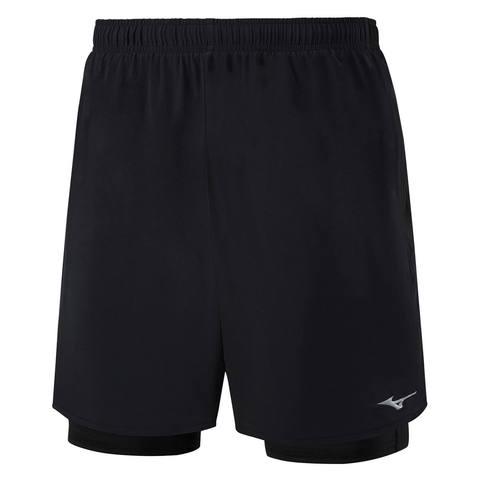 Mizuno Alpha 7.5 2 In 1 Short шорты для бега мужские черные