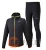 Mizuno Hybrid Warmalite костюм для бега мужской черный - 1