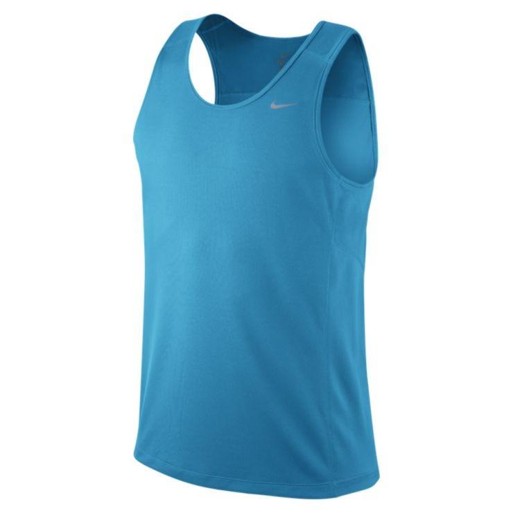 Майка л/а Nike Miler Singlet голубая