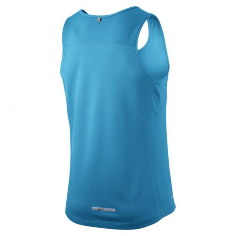 Майка л/а Nike Miler Singlet голубая - 2
