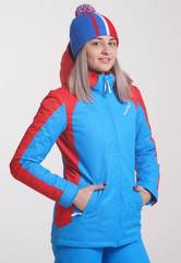 Nordski National 2020 теплая лыжная куртка женская синяя