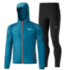 Mizuno Printed Hoodie Impulse Core костюм для бега мужской синий-черный - 3