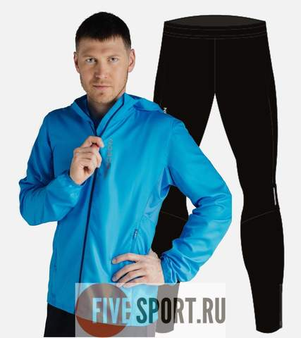 Nordski Run Premium костюм для бега мужской Blue