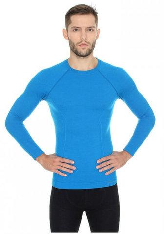 Термобелье мужское Brubeck Active Wool терморубашка голубая