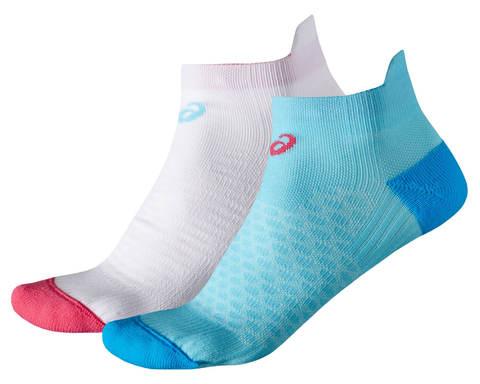 Беговые носки женские Asics 2ppk Sock белые-голубые