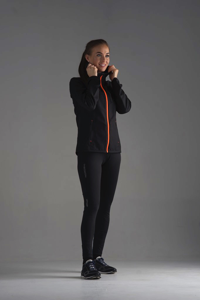 Nordski Jr Run куртка для бега детская Black/Orange - 5